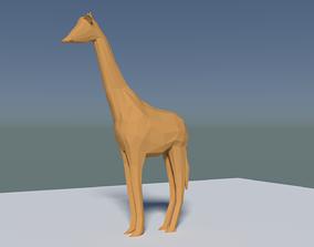 3D asset Giraffe Animal lowpoly