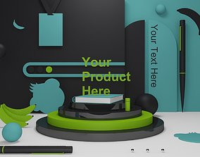 3D asset game-ready Advertisement Product Poster