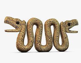 Ancient stone serpent 3D printable model