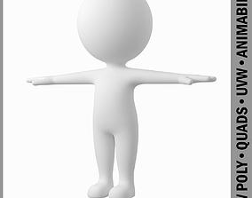 3D model Cute Stylized Stickman in T-Pose