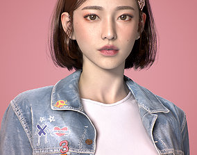 A beautiful Asian girl About 20 years old 3D asset
