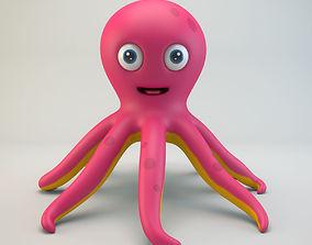 3D model Cartoon Octopus