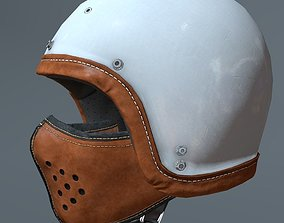 3D model Motorcycle helmet and mask