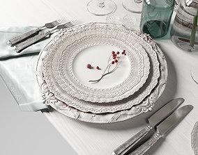 Casa de Perrin Table Set 3D model lunch