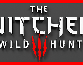 The Witcher 3 Wild Hunt 3D Logo