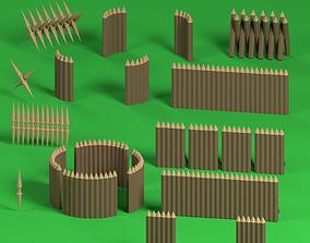 Low poly Palisades 3D asset