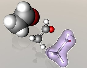 3D model Ethanal molecule