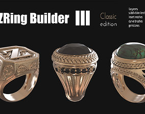3D printable model Zbrush jewelry Ring builder 3 classic