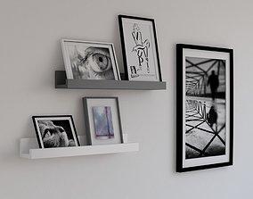 picture shelves 3D asset