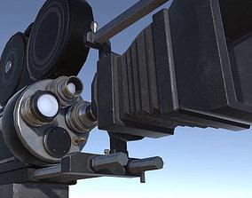 Lights Cameras and Action Blockbuster Movie Set 3D asset