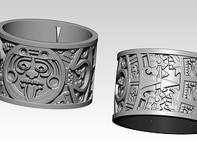 3D print model Mayan Aztec Ring Jewel