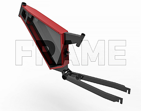 Electrical Bicycle Frame 3D model