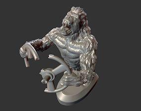 rabid gorilla decoration on the hood 3D printable model 3