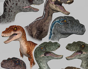 3D model Extreme Raptor Collection - 8K - Animated