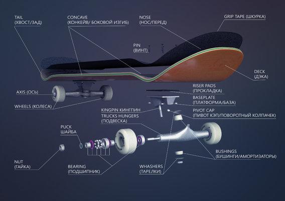 skateboard parts