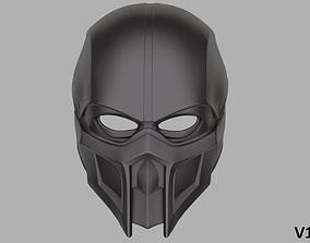Noob Saibot mask from Mortal Kombat 3D printable model 1