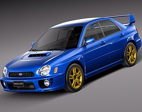 japan Subaru Impreza STi 2001 3D model