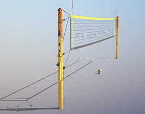 Beach Volleyball Set 3D asset