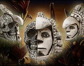 mascara 3D model Mexican Skull Dual Face