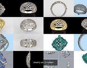 diamond Jewelry set 3D model