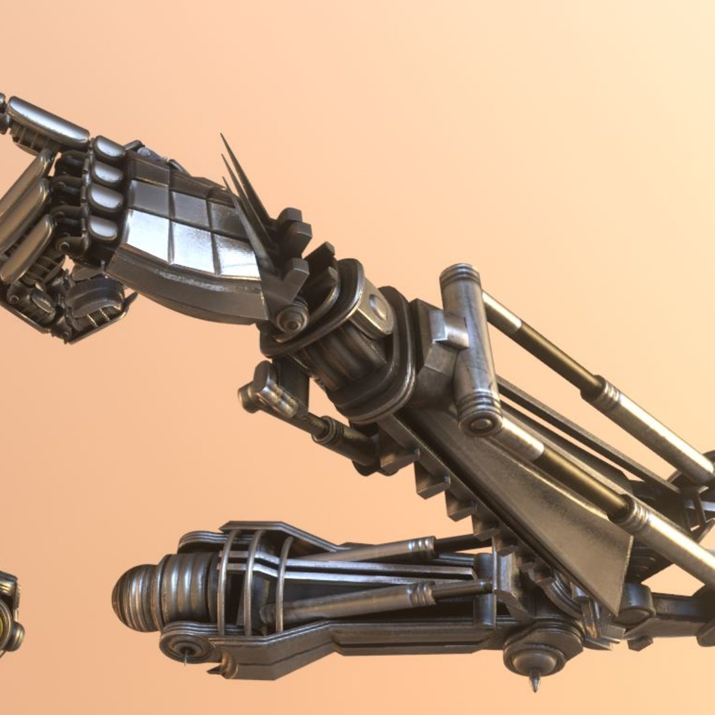 Rigged Robot Arms Blender-2 82a Version