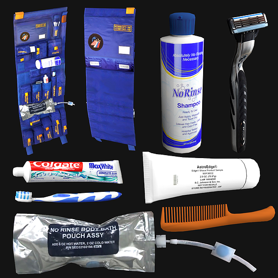 Astronaut Hygiene Kit Low Poly