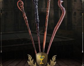 Triwizard Tournament Wand Collection 3D printable model 2