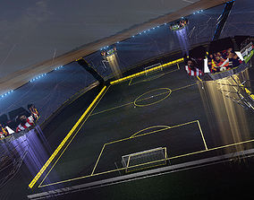 Stadium football futuristic 3d scene