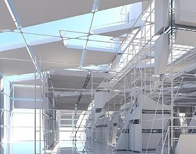 Futuristic Architectural Interior 16 3D