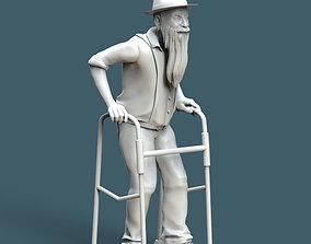 3D print model old man