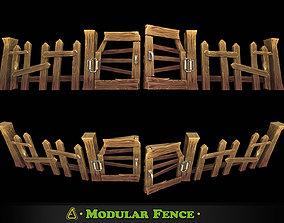Fantasy Modular Fence 3D model