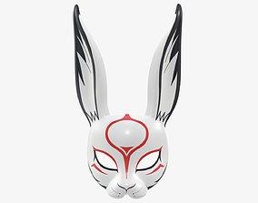 Rabbit face festive mask 3D model