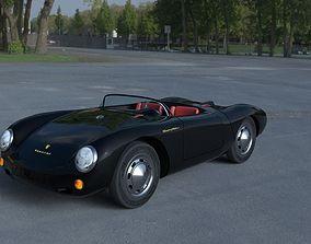 3D model Porsche 550 Spyder black HDRI