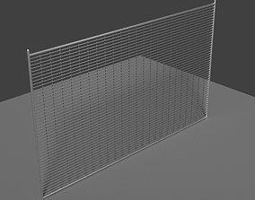 grid Metal Fence 3D asset realtime
