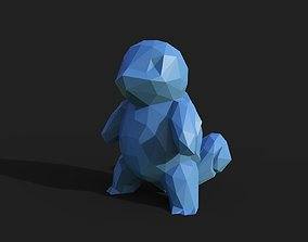 Squirtle Low Poly 3D printable model