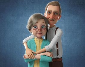 3D model Cartoon Family Rigged V3