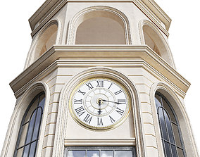 3D model Classic Clock Tower