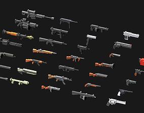 Voxel Weapons Mega Pack 3D model