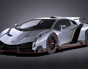 Lamborghini Veneno 2016 VRAY 3D