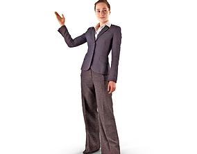 Business Woman Point 3D model