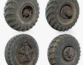 Truck Wheels Set 3D