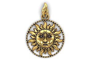 3D printable model The Sun Pendant