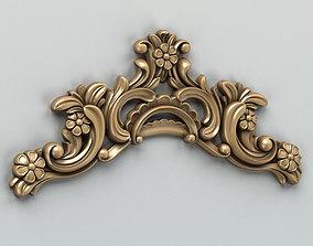 3D model decoration Carved decor horizontal 004