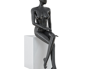 Abstract female mannequin 15 3D