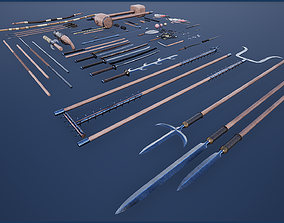 3D asset Japanese Weapon Collection 2