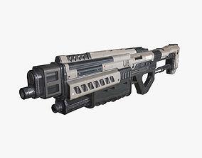 Sci Fi Shotgun 02 3D asset