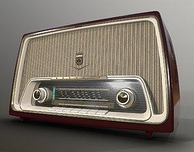 Old Tube Radio 3D model