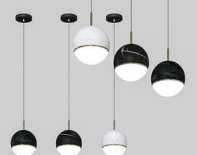 black 3D model OMGPFR - ceiling lamp