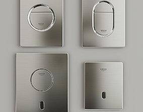 bathroom 3D model Grohe flush buttons