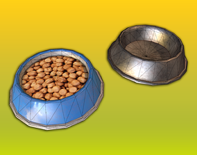 realtime Dog Food Bowl Game Ready Model